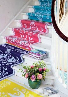 Love these colorful stairs! www.blackburninvestors.com