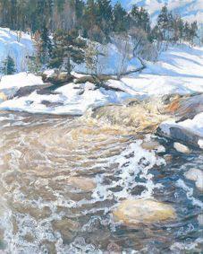 Pekka Halonen, Kevättulva 1896