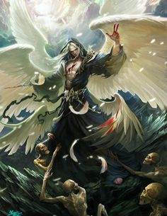 Lucifer - Digital Art by Chinese artist crow-god Interesting interpretation of Satan. Probably the most accurate