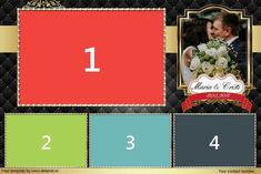 Download free photobooth template (Wedding Black-Gold)