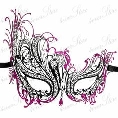 Black Laser Cut Venetian Masquerade Mask w/ by 4everstore on Etsy, $32.95