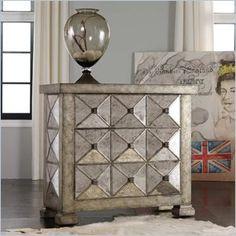 Hooker Furniture Melange Dimensional Antique Mirrored Chest