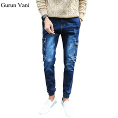 Buy now 2017 Men's New Hole Retro Jeans Worn Denim Trousers Fashion Men Straight Jeans Stitching Multi Hole And The Wind Wash Jeans just only $27.60 with free shipping worldwide  #jeansformen Plese click on picture to see our special price for you