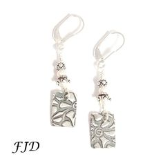 Fine Silver, Sterling Silver and Freshwater Pearl Earrings | Felicity Jewelry Designs, Handmade Jewelry, Fashion Jewelry