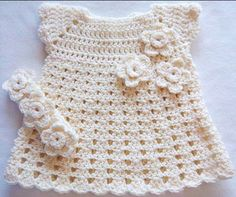 Fabulous Crochet a Little Black Crochet Dress Ideas. Georgeous Crochet a Little Black Crochet Dress Ideas. Crochet Girls, Crochet Baby Clothes, Crochet For Kids, Simple Crochet, Unique Crochet, Crochet Flowers, Crochet Lace, Crochet Dresses, Crochet Wedding
