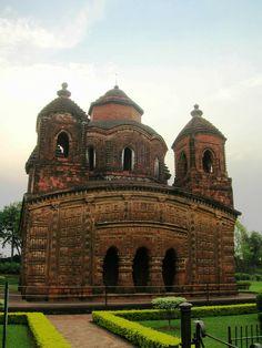 PANCHA RATNA TEMPLE • 1643 • Bishnupur, West Bengal