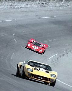 Ford GT40 - Ferrari 512S . Daytona 1970.