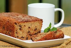 Cinnamon Crusted Banana Bread with Mini Chocolate Chips - using Pamela's Baking Mix