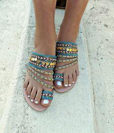 Handmade Shoes Greek Leather Sandals Boho sandals Gypsy