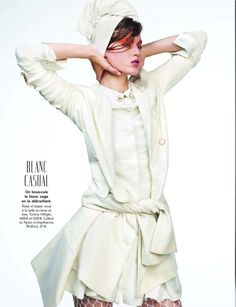 winter whites - visual optimism; fashion editorials, shows, campaigns & more!: special mode: tess hellfeuer by aingeru zorita for glamour france october 2013