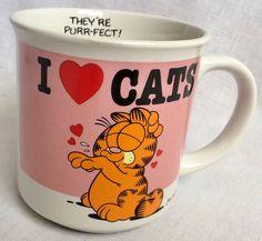 Garfield Cat 1978 Coffee Mug Cup I Love Cats Jim Davis Vintage