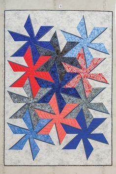 In the Wind by Barbara Cline In the book Magic Add-A-Strip Quilts.