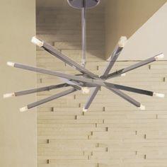 Chrome Bar LED Modern 10-light Flush Mount Ceiling Light