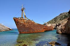 TRAVEL'IN GREECE I Olympia shipwreck, #Amorgos, South Aegean, #Greece, #travelingreece