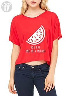 Ugo You Are One in a Melon Christmas Birthday Gift Match w Leggings Hats Jeans Women's Flowy Boxy T-Shirt - Birthday shirts (*Amazon Partner-Link)
