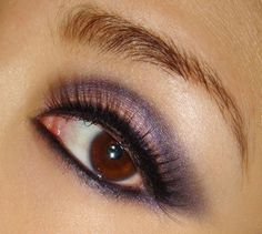 31 Makeup Tutorials for Brown Eyes - Makeup Tutorial: Purple Smoky Eye Makeup Look -Great Step by Step Tutorials and Videos for Beginners and Ideas for Makeup for Brown Eyes -Natural Everyday Looks -Smokey Prom and Wedding Looks -Eyeshadow and Eyeliner Lo