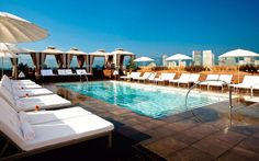 ABH, the stunning rooftop bar and pool lounge at Thompson Beverly Hills serves as an exclusive escape for guests and members, offering breathtaking views of downtown Los Angeles and the Hollywood Hills.