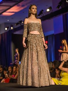 MM Insider on Twitter: Heavily embellished Manish Malhotra lehenga with off-shoulder blouse for modern Indian bride!!