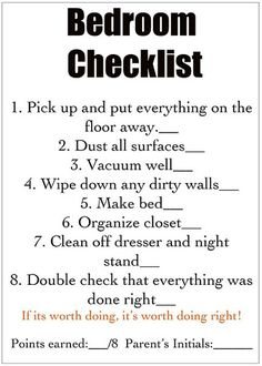 Chore list for kids @Nina Flores
