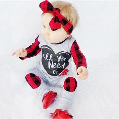 Brand 2017 Autumn Toddle Newborn Baby Boy Girl Long Sleeve Romper Plaid Body suit Jumpsuit Headband Outfits Clothes NEW Baby Outfits, Newborn Outfits, Luxury Kids Clothes, Boys And Girls Clothes, Babies Clothes, Baby Set, Baby Boy Fashion, Toddler Fashion, Toddler Jumpsuit