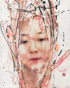 "Saatchi Art Artist Seungeun Suh; Painting, ""Self-portrait 2014"" #art"