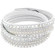 Slake White Deluxe Bracelet ($69) ❤ liked on Polyvore featuring jewelry, bracelets, accessories, white, white jewelry, crystal bangles, urban jewelry, crystal jewelry and twist jewelry