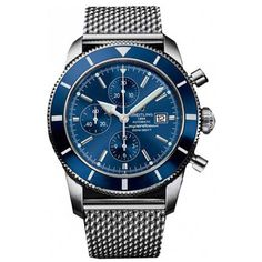 nice Breitling Mens Superocean Automatic Wrist Watch (Wristwatch) just added. Men's Watches, Breitling Watches, Dream Watches, Luxury Watches, Cool Watches, Fashion Watches, Wrist Watches, Breitling Superocean Heritage, Breitling Navitimer