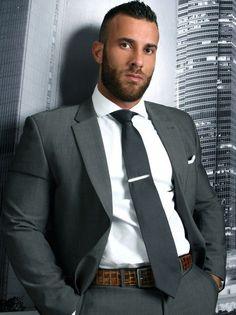 Dapper Gentleman, Gentleman Style, Sharp Dressed Man, Well Dressed Men, Hairy Men, Bearded Men, Hot Guys, Costume Sexy, Formal Men Outfit