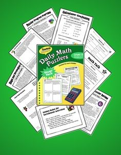 Daily Math Puzzlers Level D - Grades 5 - 7 Daily math problem solving made easy! Complete previews available. $
