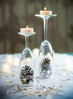 How to make: Easy DIY Christmas Decorations that cost nothing. Elegant Christmas or winter decoration, craft, or wedding centerpiece. Great Budget decor ideas for the home. diy centerpieces 8 Easy DIY Ways To Decorate Your Home For Christmas - Twins Dish Noel Christmas, Simple Christmas, Christmas Crafts, Minimal Christmas, Office Christmas, Modern Christmas, Christmas Ideas, Christmas Candles, Scandinavian Christmas
