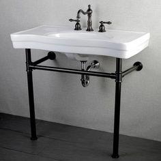 Shop for Imperial Vintage 36-inch Oil Rubbed Bronze Pedestal Bathroom Sink…