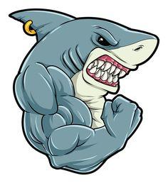 Hai Tattoos, King Tattoos, Under The Sea Drawings, Shark Drawing, Draw Logo, Shark Photos, Shark Gifts, Shark Art, Clay Art Projects