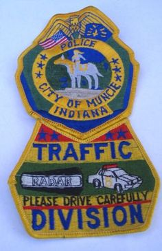 Muncie-Indiana-Police-Traffic-Division-Special-Unit-Shoulder-Patch-Old