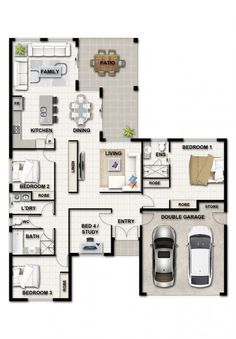 Our Home Design Range available in Cairns and Townsville Simple House Plans, Family House Plans, Best House Plans, Dream House Plans, Modern House Plans, House Floor Plans, Modern Small House Design, Minimalist House Design, House Layout Plans