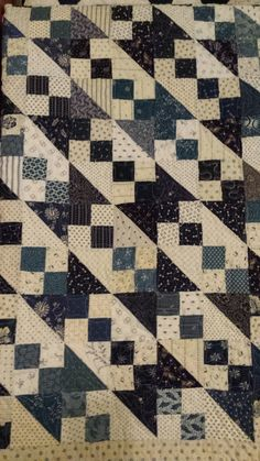 I made this Jacob's Ladder quilt in 2008. Two other friends and myself had a little getaway in CA and this was the perfect project to swap...