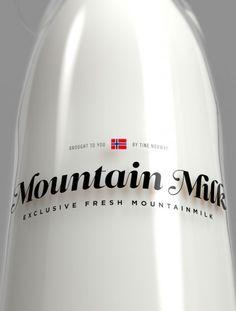 บรรจุภัณฑ์ขวดแก้วสวยๆจากนม Mountain Milk จาก Bunjupun.com