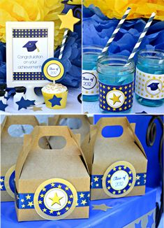 Graduation Party Printables Supplies & Decorations Kit - Current Year
