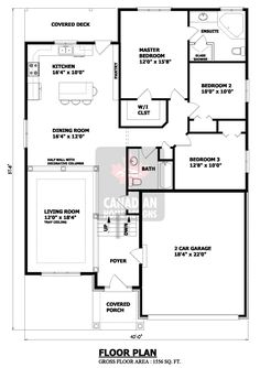 1200 Sq Ft 4 Bedroom House Plans Google Search Floor