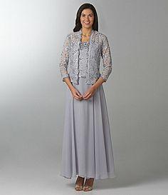 a6c73056db SL Fashions Lace Beaded Jacket Dress  Dillards Mob Dresses