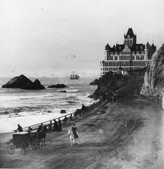 Cliff House, 1900.  It amazes me to see photos like this. How grand that must have been !