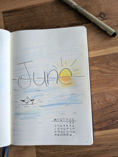 June Bullet Journal page