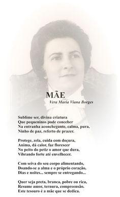 """Vera Maria Viana Borges: MÃE (SONETO - Página 11 do meu Livro """"TRILHAS POÉT..."""