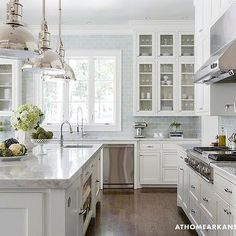 Blue Subway Tile, Transitional, kitchen, At Home in Arkansas