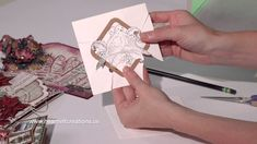 cardmaking video: Christmas Card Making: Quick Dimension and Sparkling Backgrounds by Hear...