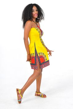 Dashiki Summer Dress ~African fashion, Ankara, kitenge, African women dresses, African prints, African men's fashion, Nigerian style, Ghanaian fashion ~DKK