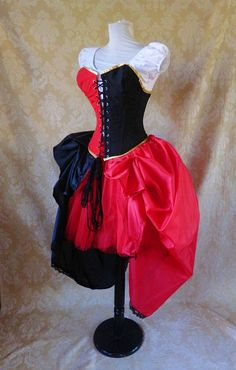 Harley Quinn Bustle Tie On Skirt and Tutu SetTo by AliceAndWillow, $109.00