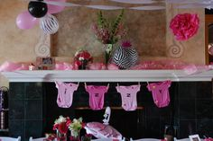 Wild Child Hot Pink & Zebra Theme Baby Shower    https://www.facebook.com/note.php?note_id=411770660751