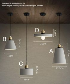 Beautifully crafted minimalist concrete pendant light inspired by New York Loft style and Nordic Minimalism. Combined with fabric braided cord, this simple and understated pendant will surely add a chic vibe to your loft or space.Four styles are available, choose your favourite in the drop down menu. Number of bulbs 1 Power 100- 240V (Worldwide Compatible) Fitting type E27 Screw In Type Material Concrete resin. Braided Cord. Colour Concrete Grey Measurements - Model A: 15.5cm D x 20.5cm H…