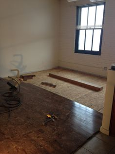 Installing hardwood floors #BridgeviewApartments