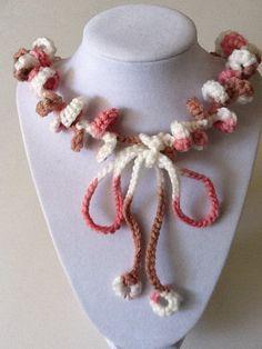 Single Loop Handmade Crochet Necklace by joywelry2love on Etsy, $12.99